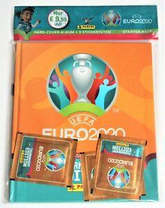 Panini EURO 2020 Tournament Edition Hardcover album + 3 packs of stickers NEW
