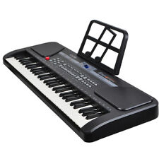 Black 61 Key Music Electronic Keyboard Electric Digital Piano Organ