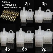 50 sets 2 3 4 6 9 pin wire connector For Car Motocycle crimp terminal connector