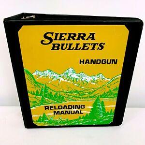 Sierra Bullets Handgun Reloading Manual Binder Good