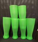 Set of 6 Green 22 Oz Plastic Pilsner Drinking Cups Tumblers BBQ Bar Pool Picnic