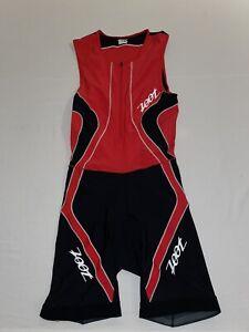 Zoot women's Sleeveless Triathalon Full Bib Red Size Large **Worn 1 Time!