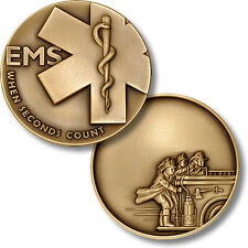 "Emergency Medical Services / ""When Seconds Count"" - EMS Fire Challenge Coin"