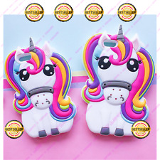 3D Arco Iris Unicornio Caballo Pony De Silicona Teléfono Estuche Cubierta Iphone Samsung Motorola