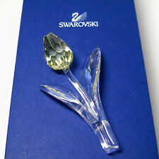 NEW Swarovski Crystal YELLOW TULIP FLOWER Swan Logo LG Faceted Bud SCS 2004 NIB
