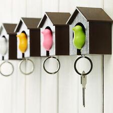 1X Bird Nest Sparrow Whistle House Key Chain Keyrings Wall Hook Holders Random