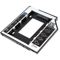 Universal 2.5 2nd 9.5mm Ssd Hd SATA Hard Disk Drive HDD Caddy Adapter Bay F #K