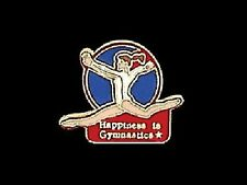 Happiness Is Gymnastics Lapel Pin - One Of Our Best Sellers