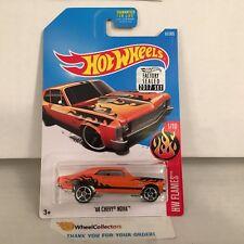 '68 Chevy Nova #61 * Orange * 2017 Hot Wheels Factory Set * J28