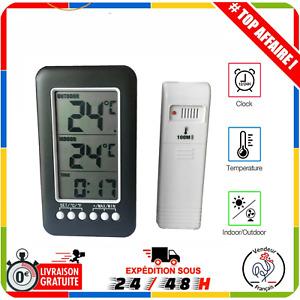 Thermomètre intérieur Extérieur sans Fil avec Émetteur LCD Numérique ℃/℉ pour C