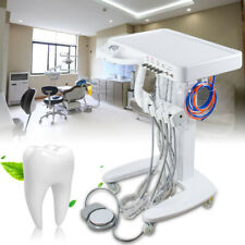 Dental Equipment Portable Self Delivery Mobile Cart System Unit+Weak Suction+4H