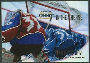 1996 Pinnacle In The Crease Patrick Roy Avalanche HOF /600