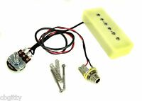 Soap Bar P-90 Single Coil Guitar Pickup Harness Pre-wired with Volume Pot & Jack
