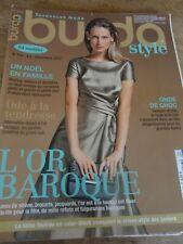 MAGAZINE BURDA ODE A LA TENDRESSE L'OR BAROQUE  2012 N°156