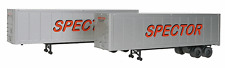 WALTHERS SCENEMASTER HO 1/87 SCALE SPECTOR 40' TRAILERS 2-PACK # 949-2304 F/S