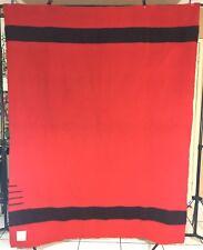 Vintage HUDSON'S BAY 3.5 POINT BLANKET 100% WOOL Red & Black