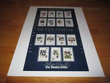 ADAM VINATIERI signed SILVER STREAK Poster NEW ENGLAND PATRIOTS '03 World Champs
