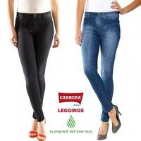 Jeans Leggings Carrera Woman 767l Skinny Cotton Aloe on Black Leather & Blue 700