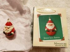 Hallmark Miniature Ornament Jolly Li'l Santa, 2003, Nib Excellent!