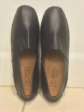 ROMAN ROCK MENS SHOES size 10 BLACK NAPPA LETHER