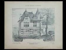 ARCHES VOSGES, VILLA - 1906 - PLANCHES ARCHITECTURE - MOUGENOT