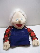 MUPPETS FULL HALF BODY PUPPET MAN DRESSES IN FLANNEL SHIRT BIBBED OVERALLS
