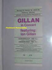 IAN GILLAN Unused 1980 MINT Concert Ticket HAMBURG GERMANY Deep Purple VERY RARE