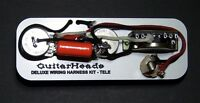 Guitar Parts DELUXE TELECASTER WIRING HARNESS KIT - Switchcraft CTS Orange Drop