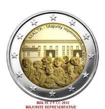 """MALTE 2012 2 EURO CC """"MAJORITE REPRESENTATIVE"""" LOT DE 5 PIECES   PREVENTE"""