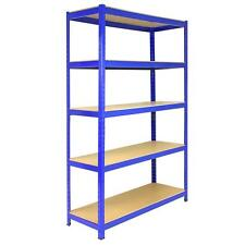 1 Bay Garage Shelving / Workshop Storage / Shed Racking 5 Tier 1200mm wide T-Rax