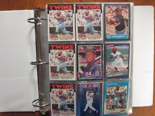 Lot of 500  KIRBY  PUCKETT  Baseball  Cards (1985-1997/in Notebook/clear sheets)
