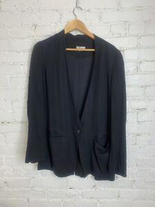 Helmut Lang Black Silk Blazer/Jacket, Size 6