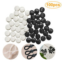 100-200 pcs Silicone Ear Loop Elastic Cord Stopper For Band Lock Ends Adjuster