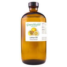 16 fl oz Lemon Essential Oil (100% Pure & Natural) Amber Glass Bottle