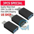 3-Pack USB-C Type C 3.1 Male to USB 3.0 Type A Female Adapter Sync Data Hub OTG