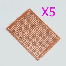 5pcs New Universal BREADBOARD 5x7cm Prototype Paper PCB Circuit Board