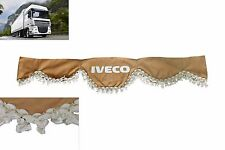 LKW Frontscheibenborde Gardine Vorhänge BEIGE für IVECO Trakker Stralis Eurotech