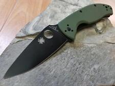Spyderco Tenacious Folding Knife Standard Edge Black G10 Reversible EDC 122GPBGR