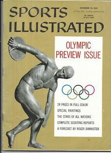 November 19 1956 Sports Illustrated GREEK DISCOBOLUS Melbourne Olympics NO LABEL