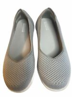 Skechers Womens Size 7.5 Go Step GOGA Mat Sneakers Slip On Walking Shoes Gray