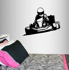 Vinyl Decal Go Kart Racing Guy Boy Racer Karting Extreme Sports Wall Sticker