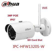 Original Dahua DH-IPC-HFW1320S-W 3MP WIFI HD IR Bullet POE IP Camera Upgradable