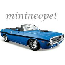 MAISTO 31264 1970 DODGE CHALLENGER R/T CONVERTIBLE 1/24 DIECAST MODEL CAR BLUE