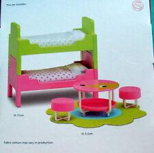 Kinderzimmer Betten Doppelstockbett Hocker Tisch f. Puppenhaus Lundby