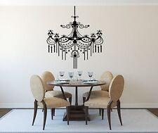 Wall Sticker Vinyl Decal Luxury Chandelier Plafond Lamp Decor (n139)