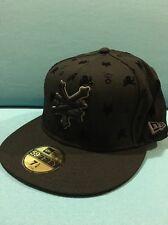 "New Era 59fifty ""Zoo York"" Flat Bill Hat Black Size 7 1/4"