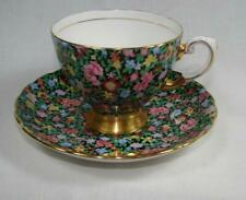 "Vtg English Tuscan ""Mille Fleures"" Bone China Chintz Cup & Saucer Set-Charming !"