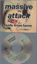 CD--MASSIVE ATTACK -- - SINGLE -- SAFE FROM HARM -3 VERSIONS, -
