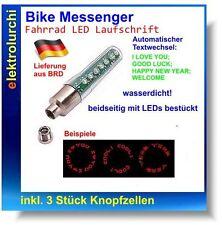 Bike Messenger - Fahrrad LED Laufschrift / Text, inkl. 3x Knopfzellen