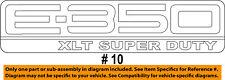FORD OEM 06-14 E-350 Super Duty Back Door-Emblem Badge Nameplate 9C2Z1542528HA